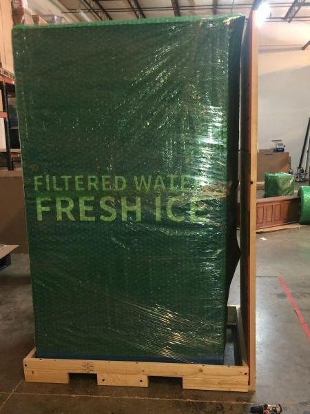 Palletized ice machine
