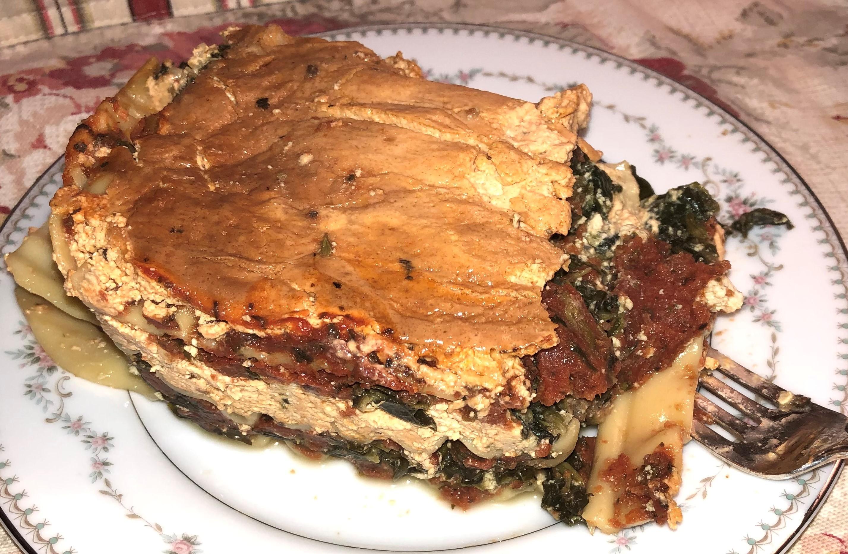 Photo: Spinach Lasagna.