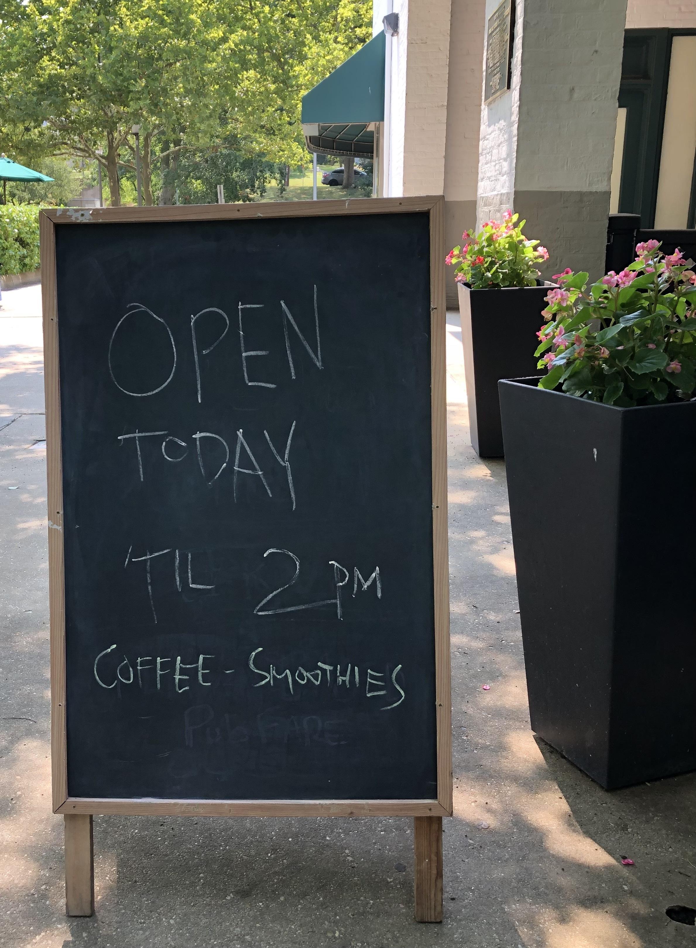 Photo: Cafe Sign.
