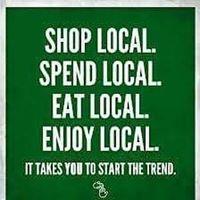 Photo: Shop Local Sign.
