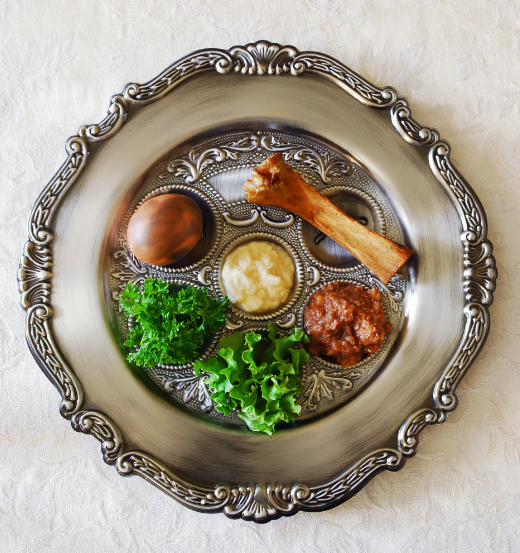 Photo: Traditional Seder Plate.