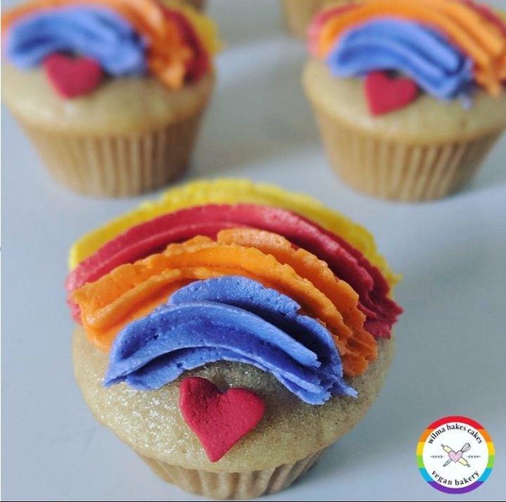 Photo: Pride cupcakes.