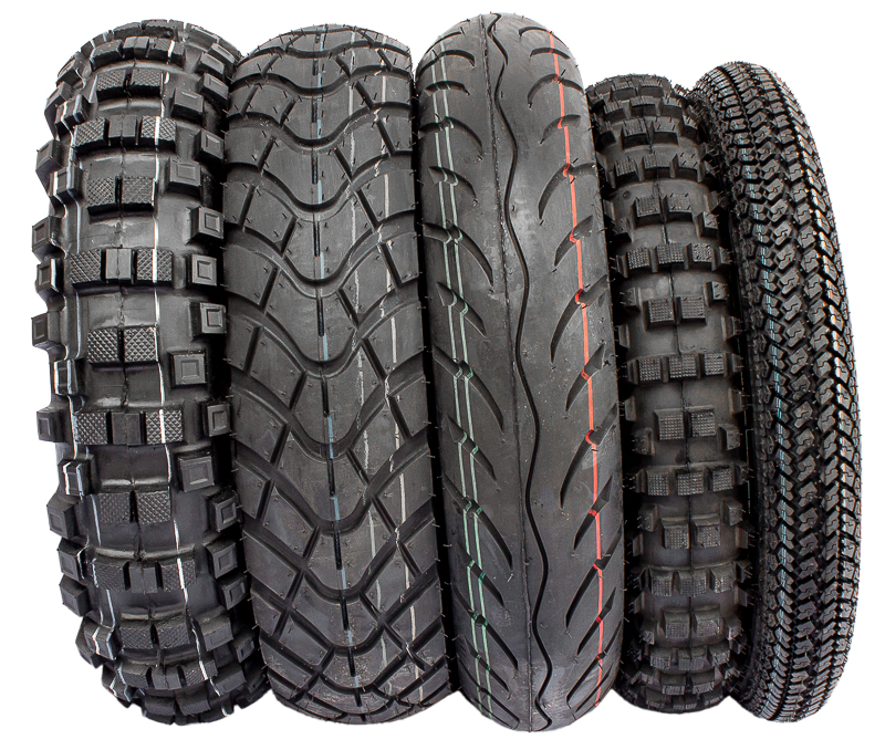 For our Crossbike we offer 5 different types ot tyres.