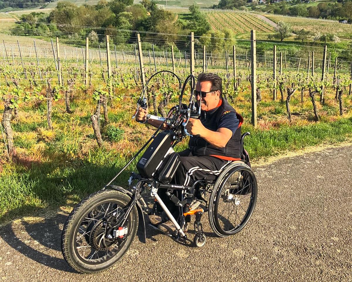 Jürgens Testfahrt mit dem Lipo Smart Wild bergaufwärts