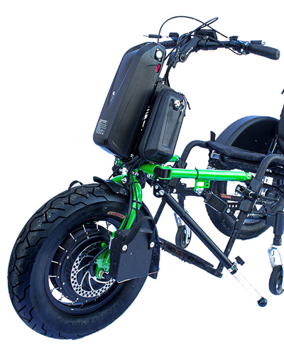 The Stricker Crossbike in blooming green and urban tires.