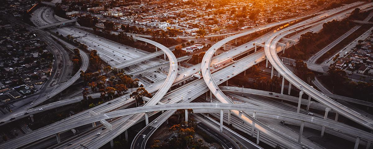 Image of city center freeways