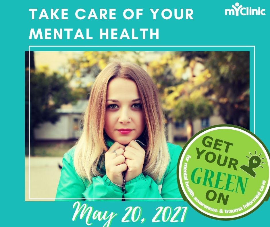 Get Something Green on May 20 in support of World Mental Heath