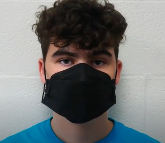 Photo of student in mask