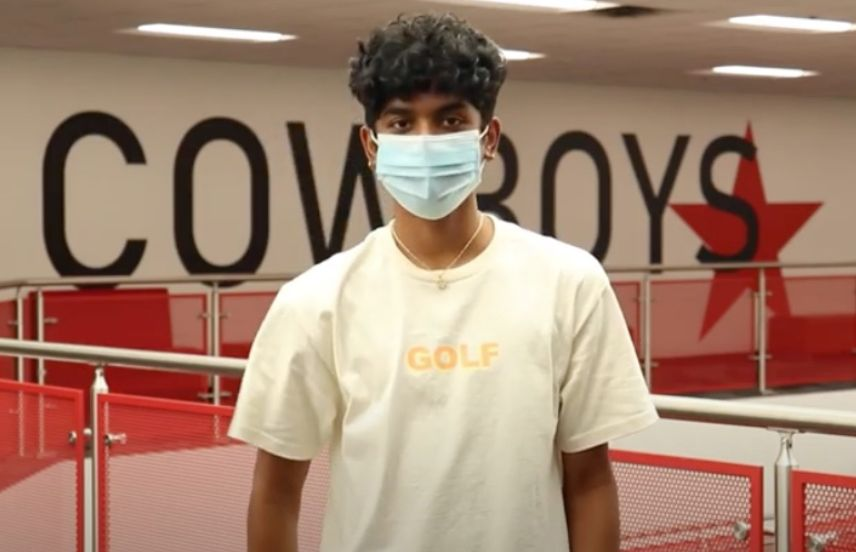 Photo of Student in Mask to preview video with link