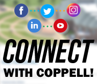 Photo of Connect with Coppell and social media icons
