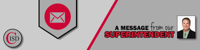 Message from the Superintendent Header Image