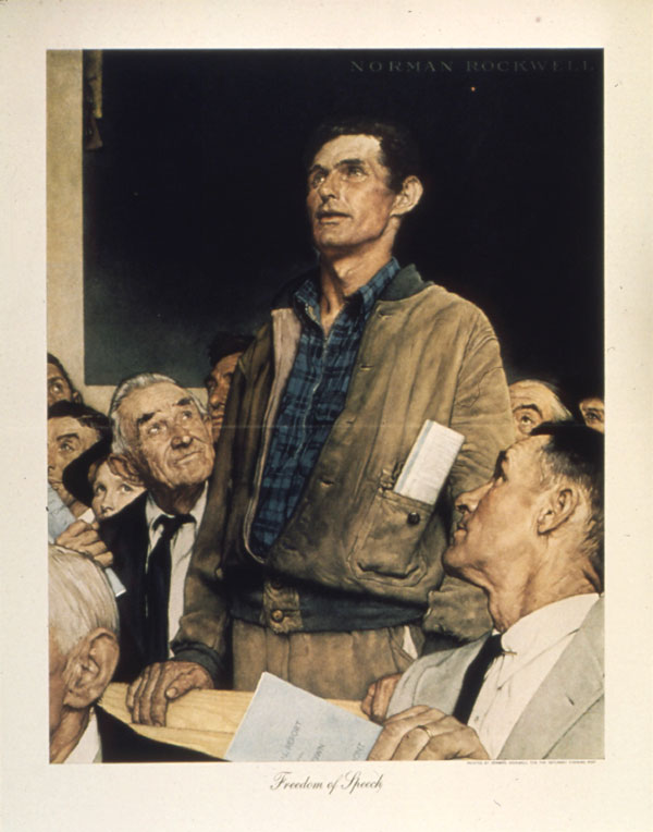 Norman Rockwell, Freedom of Speech (1943)