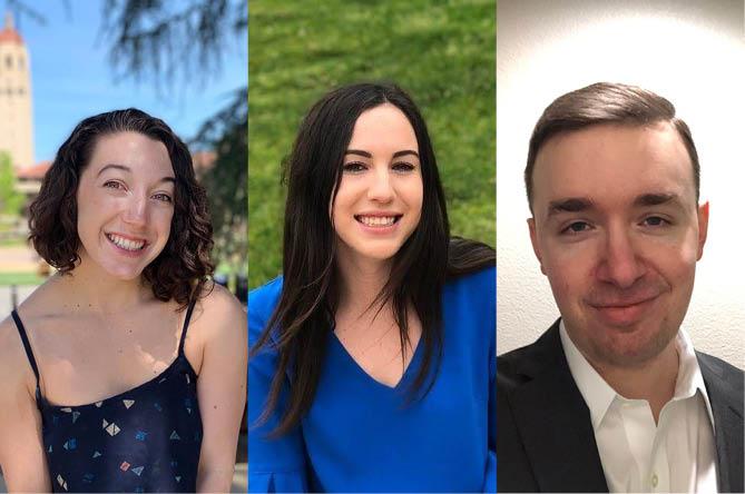 Immigrants' Rights Clinic students Raven Quesenberry, Claire Fieldman, and Drew Alvarez
