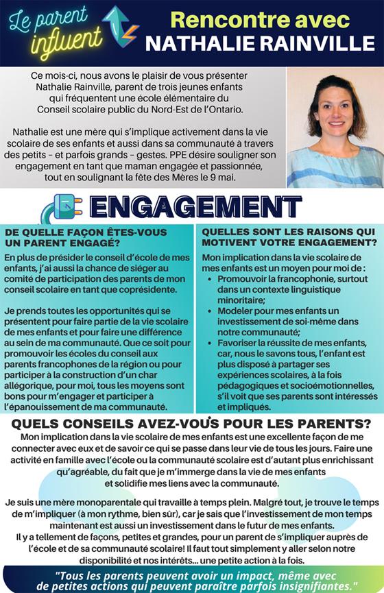 Rencontre avec Nathalie Rainville