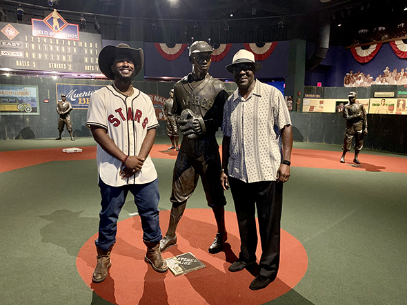MCB Music Advisor Willie Jones with Bob Kendrick, President of the NLBM and one of our valued board members.
