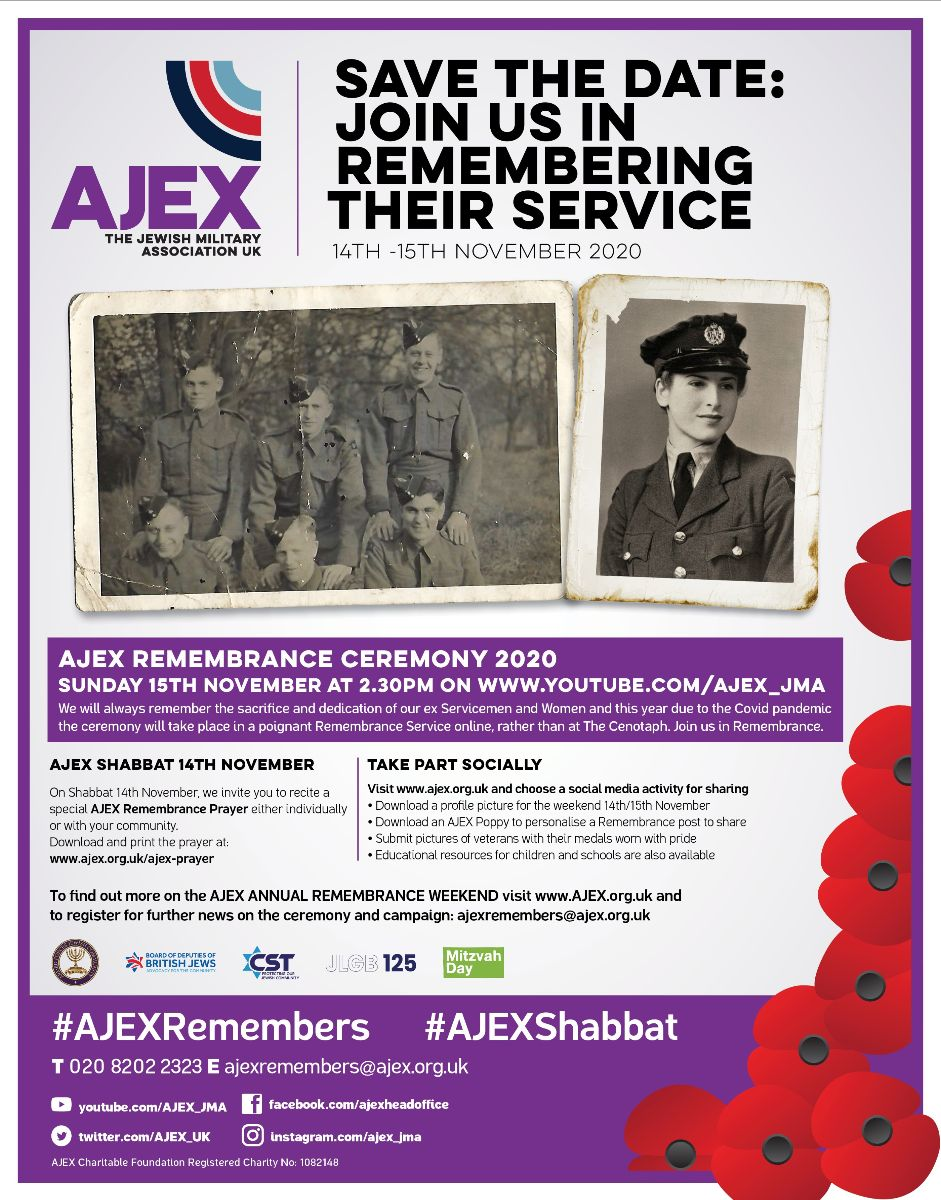 AJEX REMEMBRANCE CEREMONY 2020