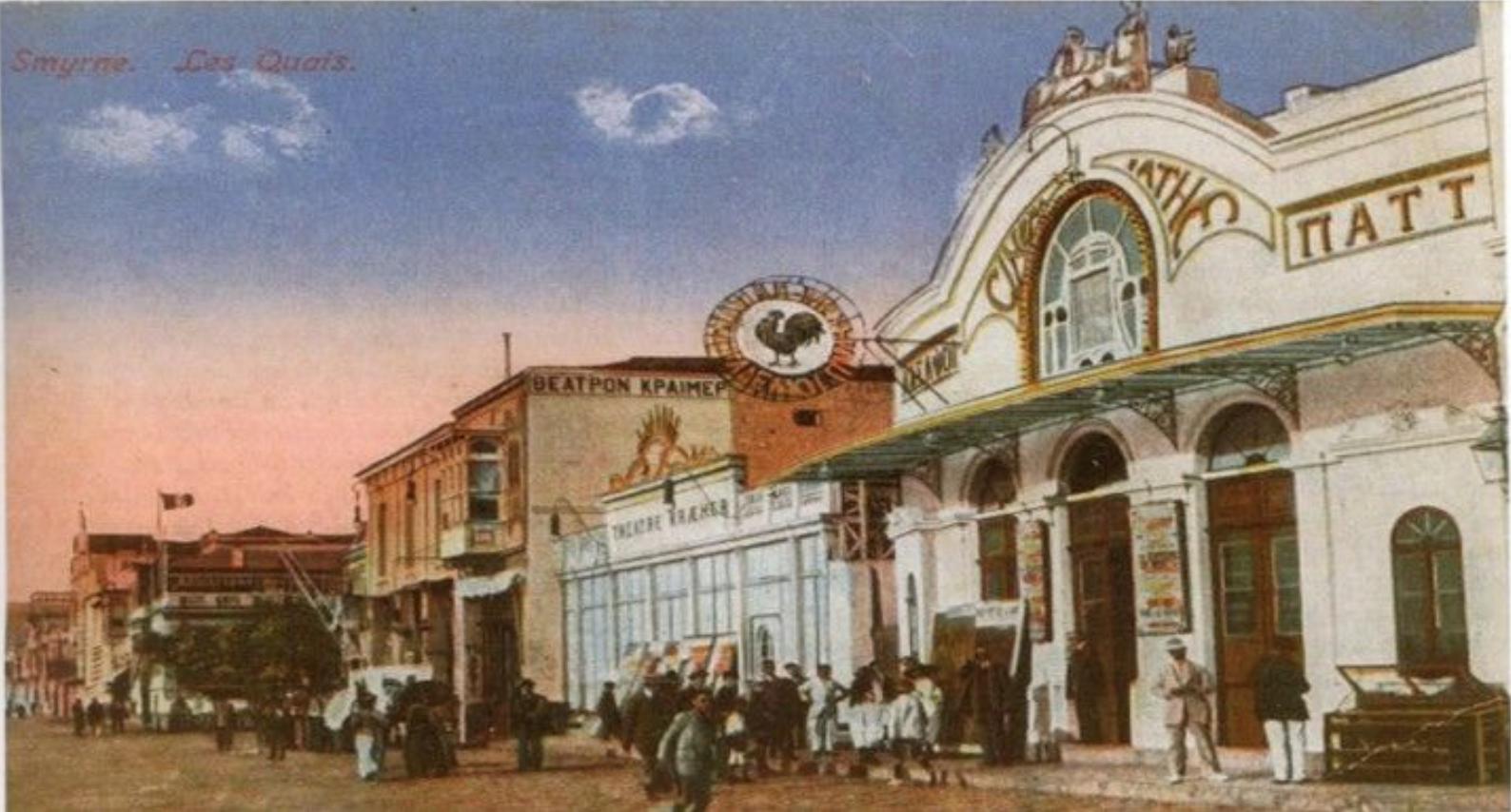 İLK İZMİR SİNEMASI İzmir'e ilk sinema Osmanlı döneminde gelmiştir yılında  İzmir'in Frenk mahallesinde bulunan( Alsancak Kıbrıs Şehitleri civarı) -  ppt indir
