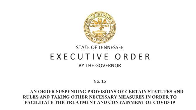 Executive Order No. 15