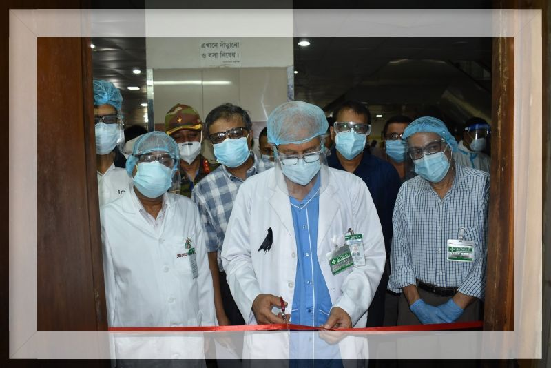 VICE-CHANCELLOR OF BSMMU INAUGURATING POST-COVID FOLLOW-UP CLINICS