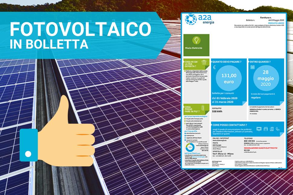 Fotovoltaico in bolletta