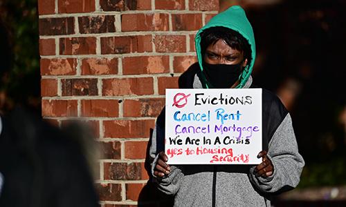 Fair housing protester