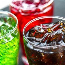 Multi-color sugary drinks
