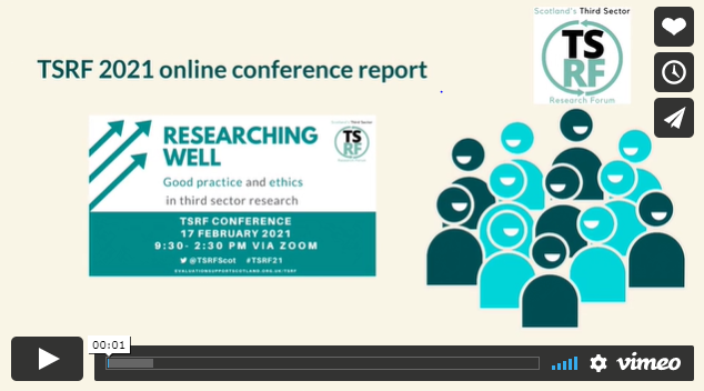 Image of first slide of video of TSRF online conference report video