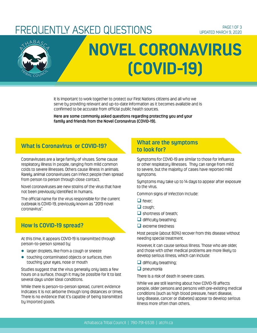 FREQUENTLY ASKED QUESTIONS: NOVEL CORONAVIRUS (COVID-19)
