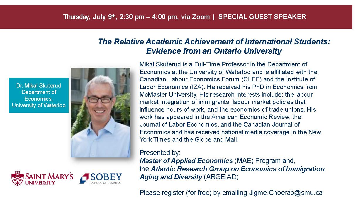 Skuterud talk on July 9, 2020