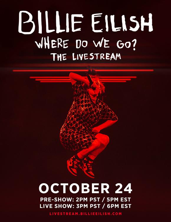 Billie Eilish Reveals Details For WHERE DO WE GO? THE LIVESTREAM