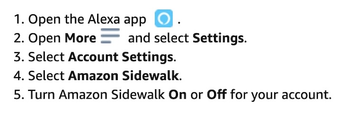 This screenshot (follow the link) explains how to opt-out of Amazon Sidewalk