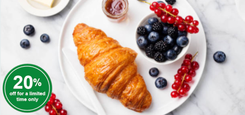 The Countdown is On: 20% OFF Butter Croissant Dough