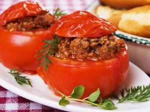 Stuffed Tomatoes with Sausage