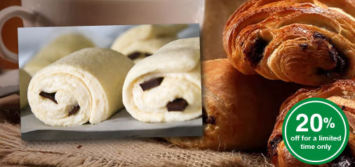 Get 20% OFF Ready-to-Bake Chocolate Croissants Dough