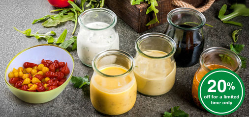 A Gourmet Touch: 20% OFF Sweet Pepper Drops, Mustard and Vinegars