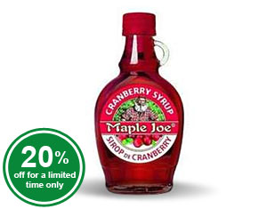 Maple Joe Cranberry Syrup (raw)