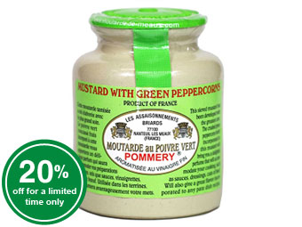Pommery® Green Peppercorn Mustard