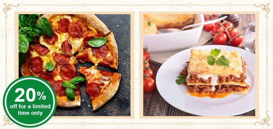 20% OFF Gourmet Ready Meals:  New Pepperoni Pizza