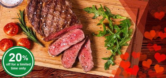 Exclusive: 20% OFF Irish Organic Beef Ribeye & Striploin