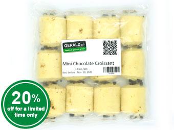 12 Mini Chocolate Croissants