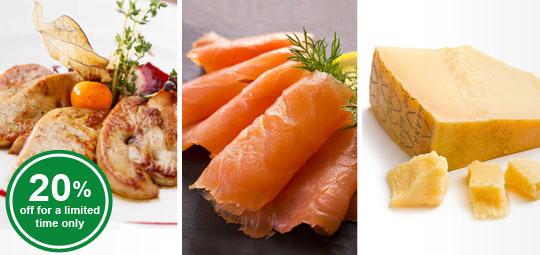 Reminder: 20% OFF Duck Liver Slices, Smoked Salmon, Grana Padano