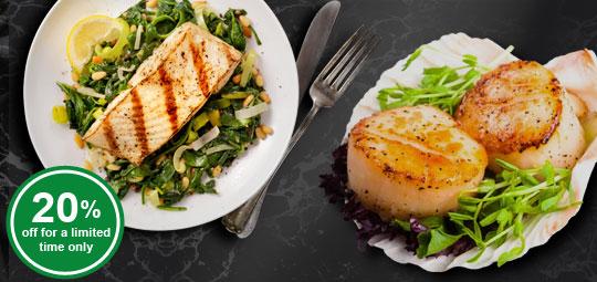 Lent Specials: 20% OFF Scallops (Roe Off) & Cod Fish Fillet Portions