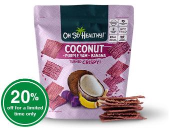 Fruit Crisps Purple Yam Banana Coconut - Oh So Healthy