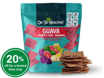 Fruit Crisps Guava Ube Banana - Oh So Healthy