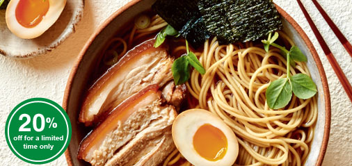Introductory Special: Get 20% OFF Our New Organic Japanese Noodles