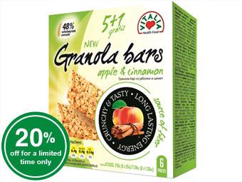Granola Bars Apple & Cinnamon
