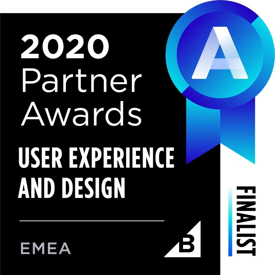 Graphic of BigCommerce's 2020 Partner Awards: User Experience and Design