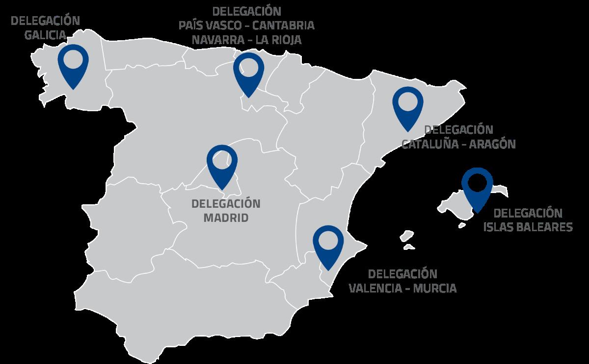 Presencia de Al-Top Topografía en España