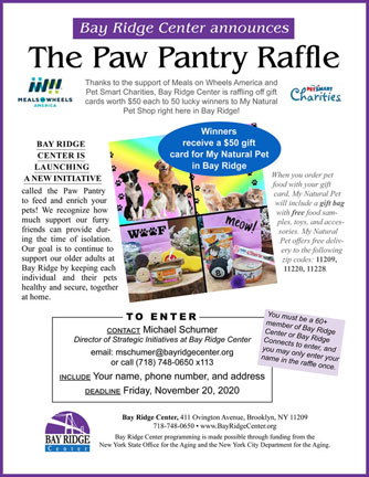 Paw Pantry flyer