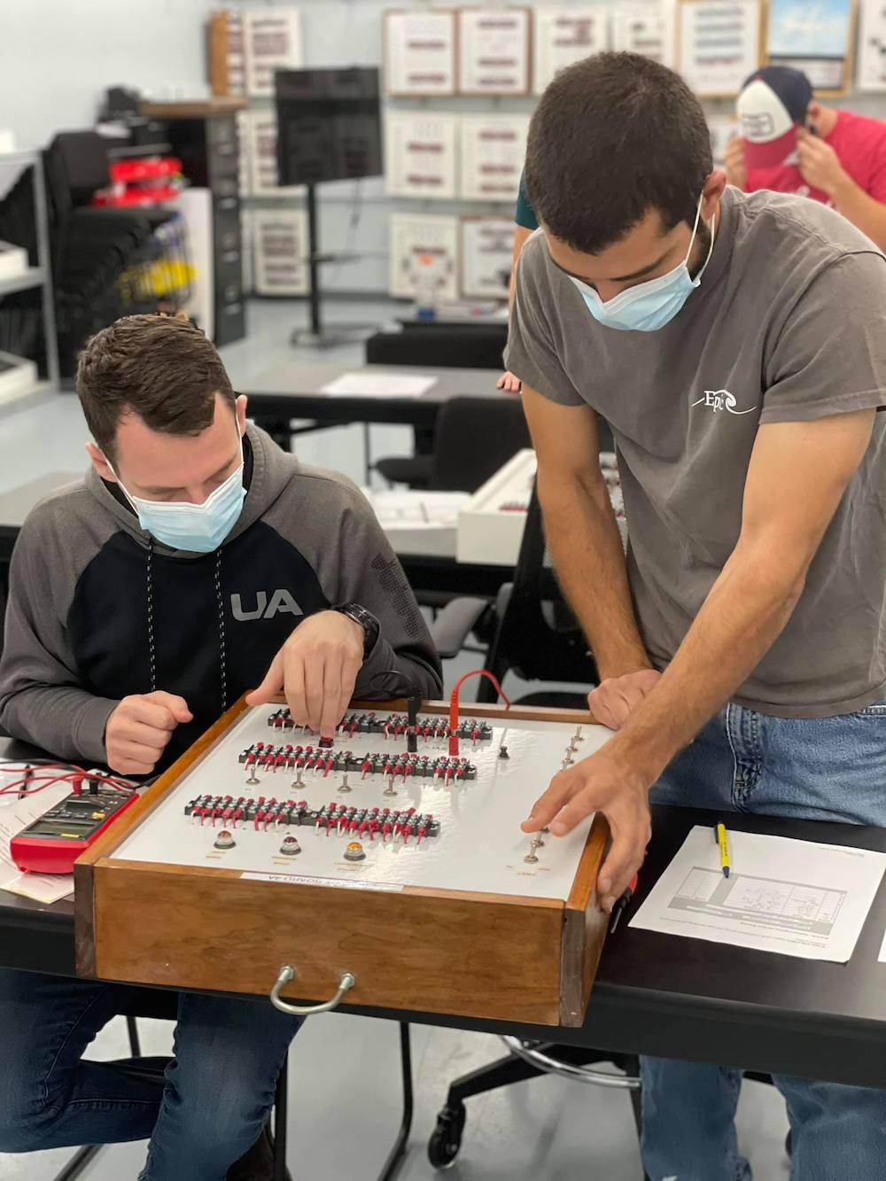 Aircraft Mechanic students